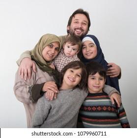 A Happy Muslim family Portrait