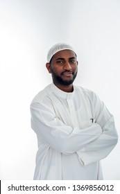 Happy muslim man arabic
