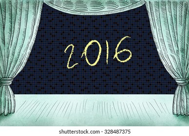 Happy New 2016 Year card