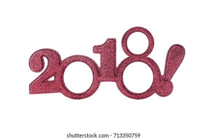 Happy New 2018 year in red tones.