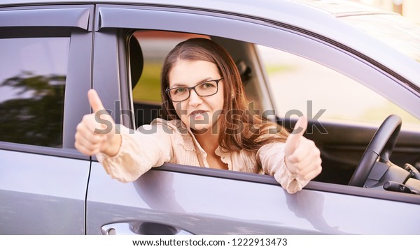 Happy New Driver Young Person Girl Stock Photo Edit Now 1222913473