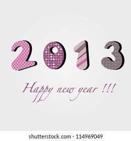 Happy new year 2013 logo