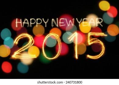 Happy New Year 2015 Sparkle Firework Stock Photo (Edit Now ...