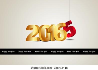 Happy New Year 2016 celebration concept