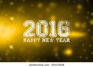 Happy New Year 2016 colourful greeting card / happy new year wording