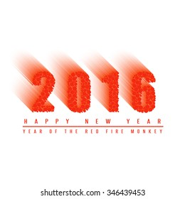 Happy new year 2016 numbers text mockup greeting card, poster or banner white background