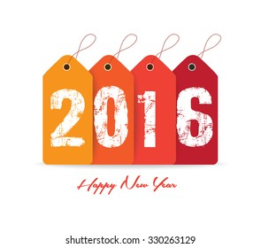 Happy new year 2016 with tag