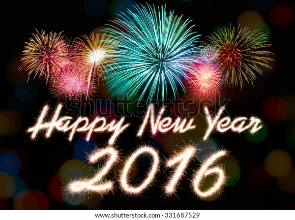 Happy New Year 2016 Written Sparkle Stock Image Download Now