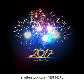 Happy New Year 2017 Firework.