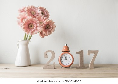 Happy New Year 2017 on a white background