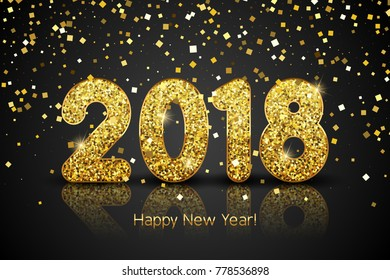 Happy New Year 2018. New Year background