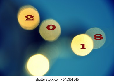 Happy new year 2018 light in the blur - interesting patterns