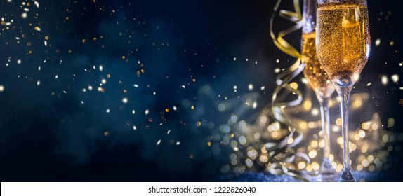 Happy New Year 2019! Christmas and New Year holidays background, winter season.