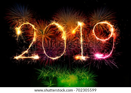 u300chappy new year 2019 colorful sparkle u300d u306e u5199 u771f u7d20 u6750 uff08 u4eca u3059 u3050 u7de8 u96c6 clipart of fireworks before it goes off clip art of fireworks to color