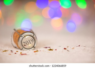 Happy New Year 2019 Cork on the Snow