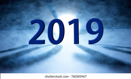 The Happy new year 2019 holiday background.2019 Happy New Year greeting card