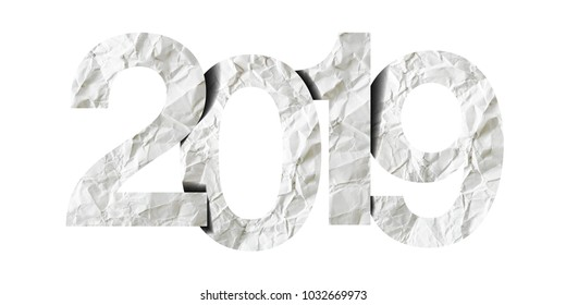 Happy New Year 2019. Paper numbers
