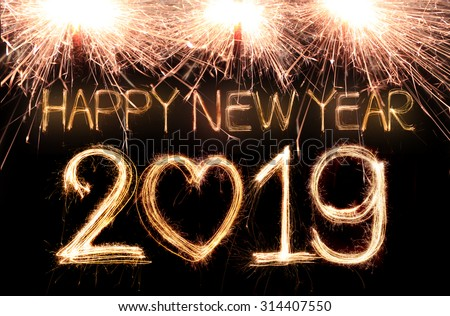 Happy New Year : Happy new year written sparkle stockfoto jetzt bearbeiten