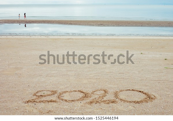 Happy New Year 2020 Lettering On Stock Image Download Now