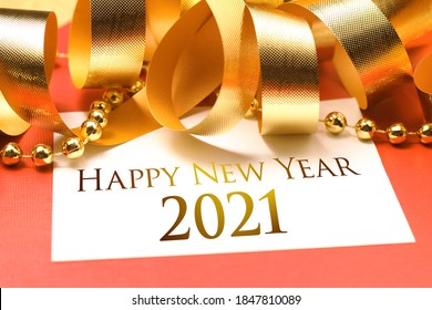 Happy new year 2021 with decoration. We wish you a new year filled with wonder, peace, and meaning.