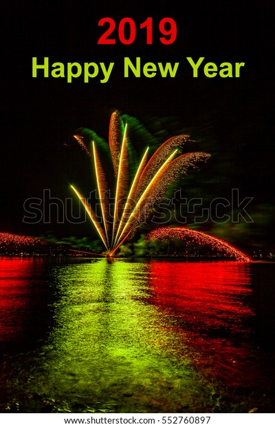 Happy New Year Background 2019 Stock Photo (Edit Now) 552760897