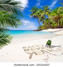Happy New Year Beach Images Stock Photos Vectors Shutterstock
