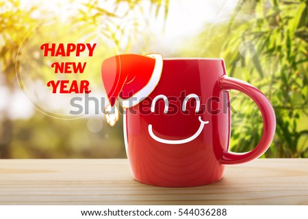 happy new year good morning or have a happy day message concept