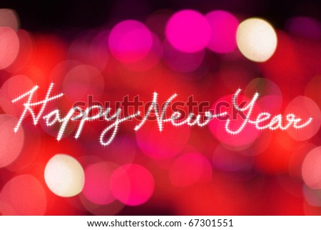 happy new year with lighting background