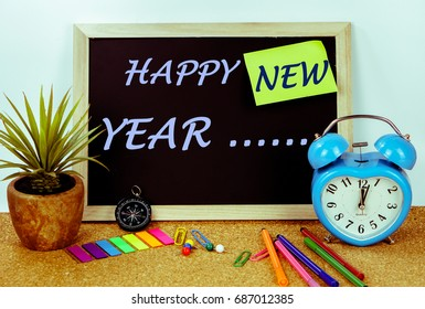 HAPPY NEW YEAR  on black board