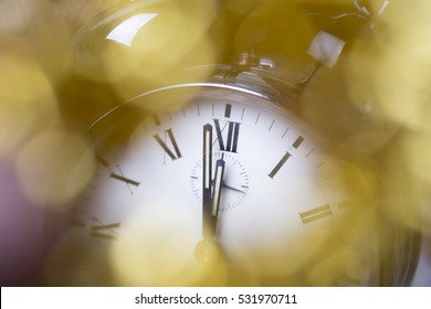 Happy New Year, party, clock face, 2017