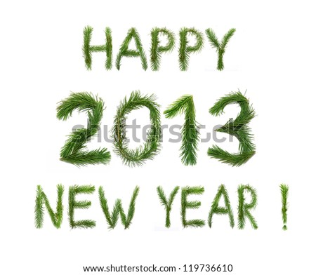 happy new year words congratulation made stock photo edit now