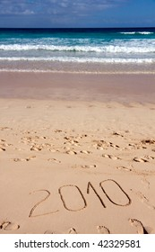 happy new year,on the sea