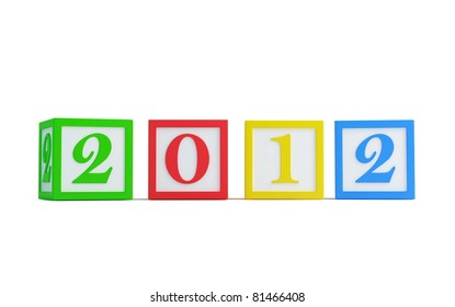 happy new year's 2012 isolated on a white background
