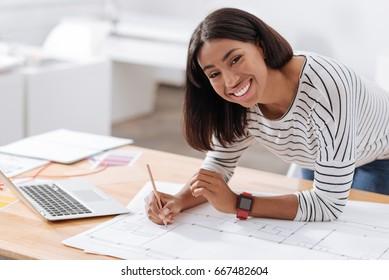 Happy nice architect smiling