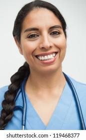 Happy nurse portraint in hospital