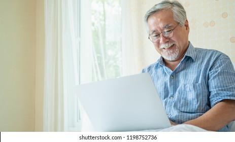 9ae914e61443 Happy Old Man Positive Portrait Asian Stock Photo (Edit Now ...
