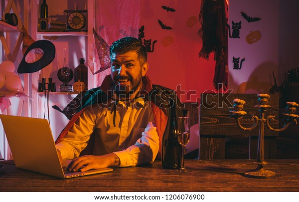 Happy Online Shopping Man Laptop On Stock Photo Edit Now 1206076900