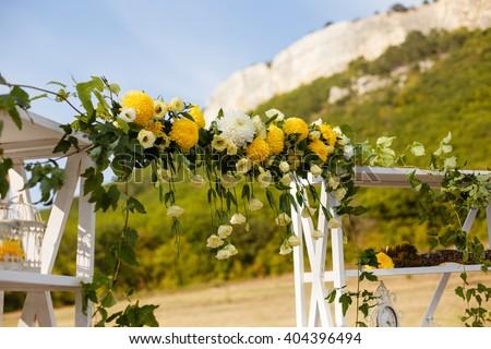 Happy Outdoor Wedding Ceremony Scene Summer Stock Photo Edit Now