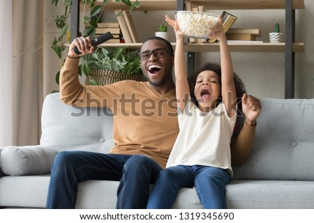 Happy overjoyed black family