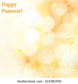 Happy Passover! Celebratory background to the Jewish holiday of Passover.