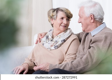 Happy people being in relationship in old age