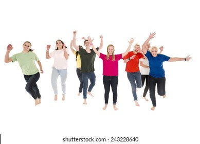 Happy people isolated on white background