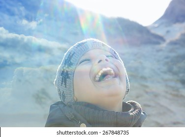 happy people outdoor  lens flare backlight double exposure stylized