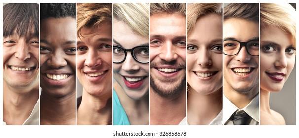 Happy people's portraits