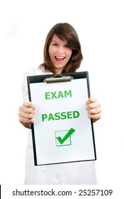 Happy physician student just passed difficult examination