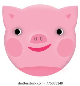 happy pig face