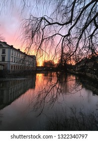 Happy place! Sunrise in Eskilstuna,Sweden a february morning