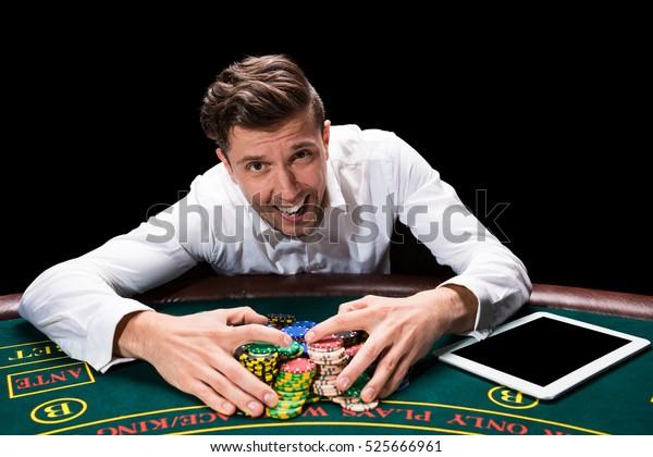 Happy Player Online Poker Stock Photo Edit Now 525666961