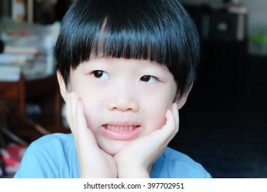 happy portrait of a boy smiling