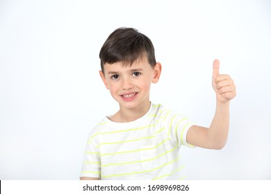 happy and positive boy with thumb up